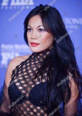 Hazel Morillo arrives at 2014 Santa Barbara International Film Festival - American Riviera Award ceremony on Friday, Feb, 7, 2014 in Santa Barbara, Calif
