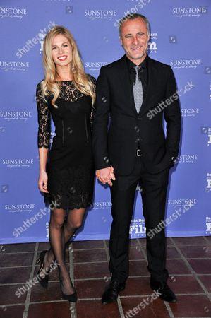 Caitlin Manley, left, and Timothy V. Murphy arrive at 2014 Santa Barbara International Film Festival - American Riviera Award ceremony on Friday, Feb, 7, 2014 in Santa Barbara, Calif