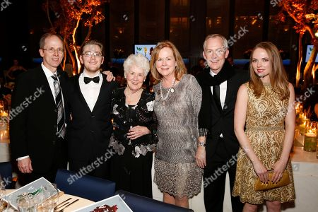 IMAGE DISTRIBUTED FOR JAMES BEARD FOUNDATION - Tom Trotter, Dylan Trotter, Donna-Lee Trotter, JBF President Susan Ungaro, Scott Trotter, and Beth Harned seen at the 2014 James Beard Foundation Gala: Celebrating Charlie Trotter and the New American Cuisine at the Four Seasons Restaurant, on in New York