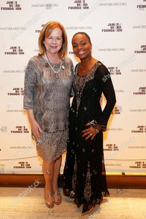 JBF President Susan Ungaro and Rochelle Smith Trotter seen at the 2014 James Beard Foundation Gala: Celebrating Charlie Trotter and the New American Cuisine at the Four Seasons Restaurant, on in New York