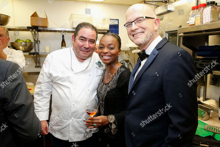 IMAGE DISTRIBUTED FOR JAMES BEARD FOUNDATION - Chef Emeril Lagasse, Rochelle Smith Trotter, White house Pastry Chef Bill Yosses seen at the 2014 James Beard Foundation Gala: Celebrating Charlie Trotter and the New American Cuisine at the Four Seasons Restaurant, on in New York