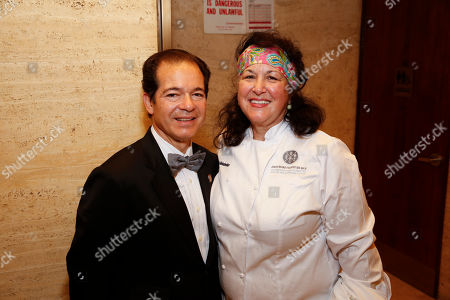 Vinter Larry Stone and Chef Carrie Nahabedian seen at the 2014 James Beard Foundation Gala: Celebrating Charlie Trotter and the New American Cuisine at the Four Seasons Restaurant, on in New York