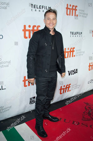"""Actor Travis Aaron Wade seen at the premiere of """"The Forger"""" at Roy Thomson Hall during the 2014 Toronto International Film Festival, in Toronto"""
