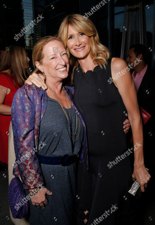 "Fox Searchlight President of Production Claudia Lewis and Laura Dern attend the pre party for the premiere of Fox Serachlight's ""Wild"" during the 2014 Toronto International Film Festival at the Shangri La Hotel on in Toronto, Canada"