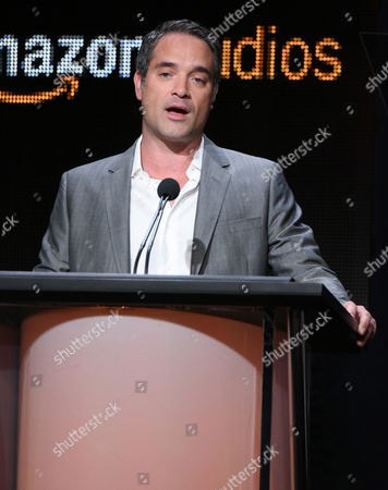 """Morgan Wandell, head of drama development at Amazon Studios, participates in the """"Hand of God"""" panel at the Amazon Summer TCA Tour at the Beverly Hilton Hotel, in Beverly Hills, Calif"""