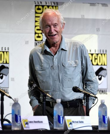 "Lance Henriksen walks on stage at the ""Aliens: 30th Anniversary"" panel on day 3 of Comic-Con International, in San Diego"