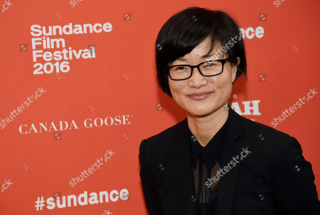 """So Yong Kim, director of """"Lovesong,"""" poses at the premiere of the film at the 2016 Sundance Film Festival, in Park City, Utah"""