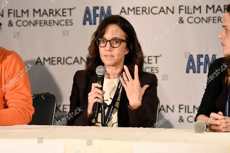 Director/Producer Lesley Chilcott speaks at the American Film Market Roundtable - Distributing and Monetizing Feature Documentaries at the Loews Santa Monica Beach Hotel, in Santa Monica, Calif