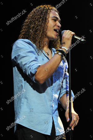 AUGUST 03: DeAndre Brackensick performs during American Idols Live at BankAtlantic Center on in Sunrise, Florida
