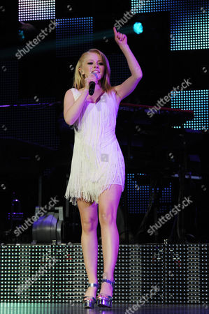 AUGUST 03: Hollie Cavanagh performs during American Idols Live at BankAtlantic Center on in Sunrise, Florida