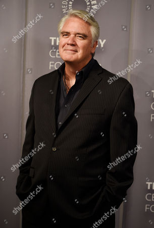 """Michael Harney, a cast member in the Netflix series """"Orange is the New Black,"""" poses at An Evening with """"Orange is the New Black,"""" at The Paley Center, in Beverly Hills, Calif"""