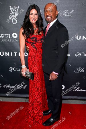 Tara Fowler, left, and Montel Williams, right, arrive at Gabrielle's Angel Foundation For Cancer Research Angel Ball 2015 at Cipriani Wall Street, in New York