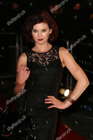 Natasha Leigh arrives at the UK Premiere of Arbitrage at Odeon West End, in London