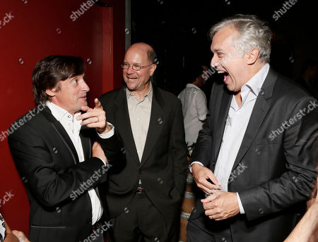 Richard Hammond, BBC America General Manager Perry Simon and BBC America America President Herb Scannell attend the BBC America TCA Party at Cafe La Boheme on in Los Angeles, California