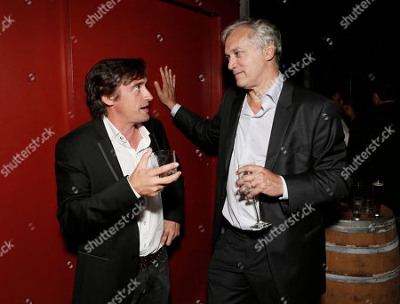 Richard Hammond and BBC America President Herb Scannell attend the BBC America TCA Party at Cafe La Boheme on in Los Angeles, California