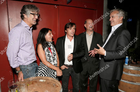 Tod, Elli Hakami, Richard Hammond, BBC America General Manager Perry Simon and BBC America America President Herb Scannell attend the BBC America TCA Party at Cafe La Boheme on in Los Angeles, California