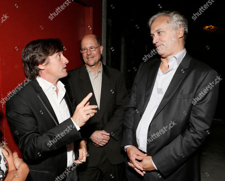 Richard Hammond, General Manager BBC America Perry Simon and President, BBC America America Herb Scannell attend the BBC America TCA Party at Cafe La Boheme on in Los Angeles