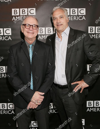 Executive Producer Barry Levinson and President, BBC America America Herb Scannell attend the BBC America TCA Party at Cafe La Boheme on in Los Angeles