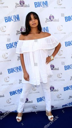 Beth Payne attends Bikini Swim Club Gloria Govan Edition at the Custom Hotel, in Los Angeles