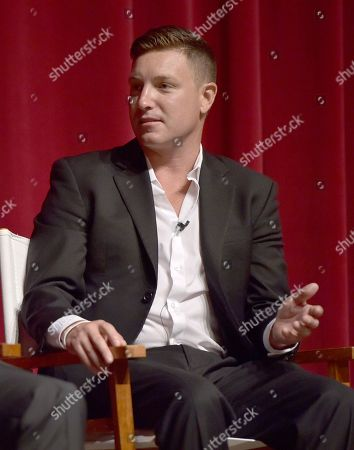 """Lane Garrison participates in a panel at the """"Bonnie & Clyde"""" FYC screener event at the Leonard H. Goldenson Theatre, in Los Angeles"""
