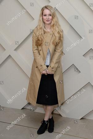 Hannah Dodd arrives for the Burberry Festive Campaign Launch at a central London venue, London
