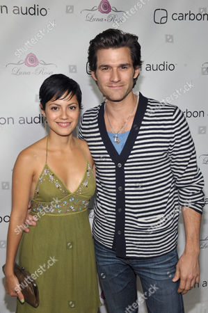 Stock Photo of Sylvia Brindis, left, and Johnny Whitworth attend Carbon Audio's Zooka launch party, in West Hollywood, Calif