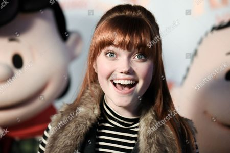 Kennedy Slocum attends Countdown to Christmas and Snoopy's Merriest Tree Lighting Event at Knott's Berry Farm, in Buena Park, Calif