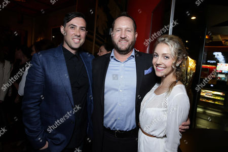 EXCLUSIVE- Director Brad Peyton, Producer Beau Flynn and Breanne Hill seen at Dwayne Johnson's Hands and Footprints Ceremony held at TCL Chinese Theatre, in Hollywood