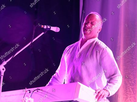 Roddy Bottum of the band Faith No More performs in concert during their Sol Invictus Tour 2015 at Skyline Stage at the Mann Center, in Philadelphia