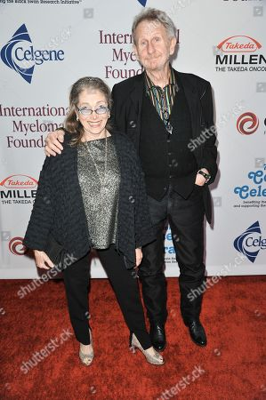 Judith Mihalyi, left, and Rene Auberjonois arrive at the International Myeloma Foundation 7th Annual Comedy Celebration at The Wilshire Ebell Theatre on in Los Angeles