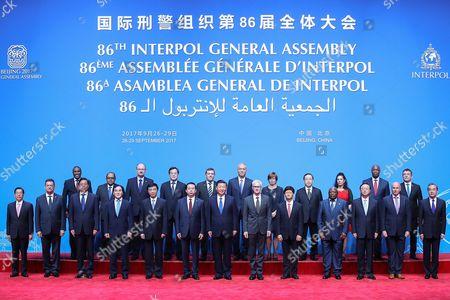 Xi Jinping, Juergen Stock and Meng Hongwei