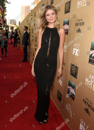 """Kamilla Alnes arrives at the Los Angeles premiere screening of """"American Horror Story: Hotel"""" at Regal Cinemas L.A. Live on"""