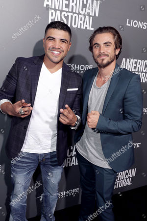 """Victor Ortiz and Ramsey Krull seen at Lionsgate Los Angeles Special Screening of """"American Pastoral"""" at Samuel Goldwyn Theater, in Beverly Hills, CA"""