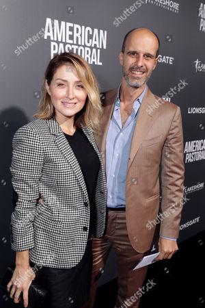 "Sasha Alexander and Edoardo Ponti seen at Lionsgate Los Angeles Special Screening of ""American Pastoral"" at Samuel Goldwyn Theater, in Beverly Hills, CA"