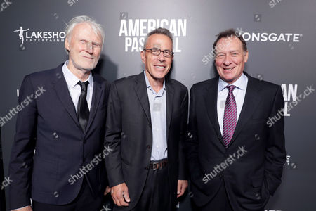 "Producers Andre Lamal, Tom Rosenberg and Gary Lucchesi seen at Lionsgate Los Angeles Special Screening of ""American Pastoral"" at Samuel Goldwyn Theater, in Beverly Hills, CA"
