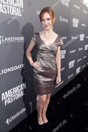 "Kristen Rakes seen at Lionsgate Los Angeles Special Screening of ""American Pastoral"" at Samuel Goldwyn Theater, in Beverly Hills, CA"