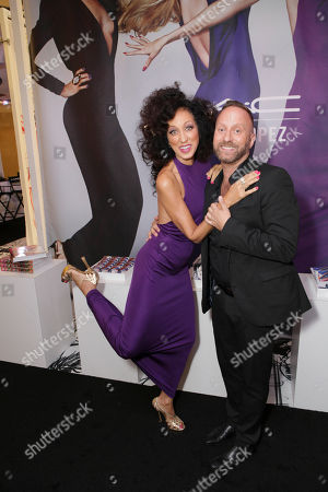 From left, Supermodel Pat Cleveland and Gregory Arlt, Director of Makeup Artistry for MAC Cosmetics pose during the MAC Cosmetics media event at South Coast Plaza, in Costa Mesa, Calif