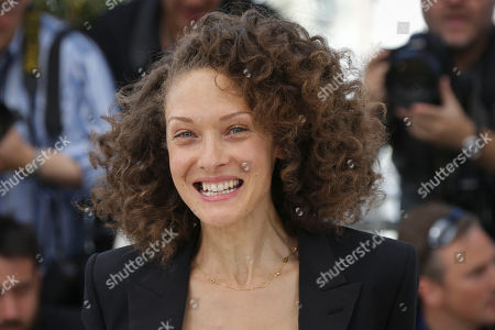 Stock Photo of Chrystele Saint Louis Augustin poses for photographers at the photo call for the film Mon Roi, at the 68th international film festival, Cannes, southern France