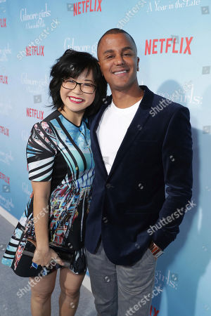 """Keiko Agena and Yanic Truesdale seen at Netflix's """"Gilmore Girls: A Year in the Life"""" Premiere, in Los Angeles, CA"""