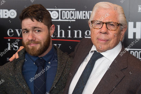 """Jacob Bernstein, left, and Carl Bernstein attend a special screening of """"Everything Is Copy"""" at The Museum of Modern Art, in New York"""