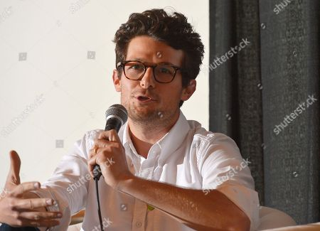 Stock Picture of Jacob Soboroff from TakePart Live talks in the TV Pivots Back To The Future: Why Live TV Matters Now More Than Ever panel during Participant Media's Engage, Inspire and Ignite: Conversations about Unleashing Social Good at SXSW in Austin, Texas