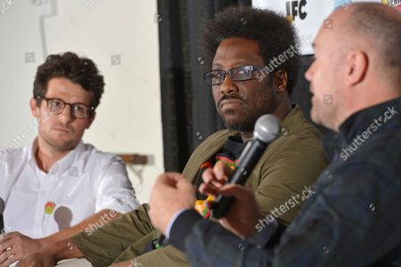 """W. Kamu Bell W. Kamau Bell, comedian, center, and Jacob Soboroff from TakePart Live look on while Michael Davies, president of Embassy Row and producer of Bravo's Watch What Happens,"""" talks in the TV Pivots Back To The Future: Why Live TV Matters Now More Than Ever panel during Participant Media's Engage, Inspire and Ignite: Conversations about Unleashing Social Good at SXSW in Austin, Texas"""