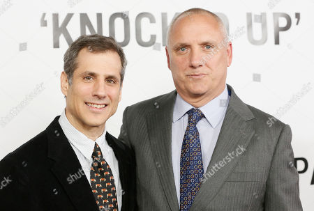 """Producers Barry Mendel and Clayton Townsend attend the premiere of """"This Is 40"""" at Grauman's Chinese Theatre, in Los Angeles"""