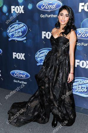 """Sonika Vaid attends the red carpet arrivals and Debut of the """"American Idol XV"""" Finalists, in West Hollywood, Calif"""