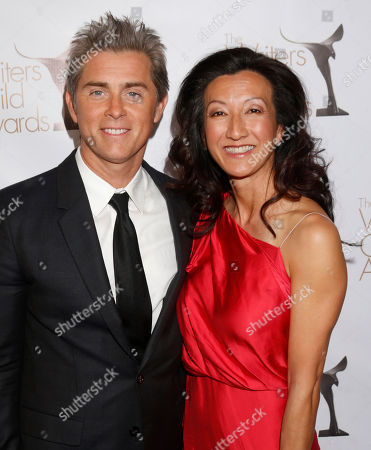 Stock Image of John Gatins and guest attend the 2013 Writers Guild Awards at the JW Marriott on Sunday, Feb. 17., 2013 in Los Angeles