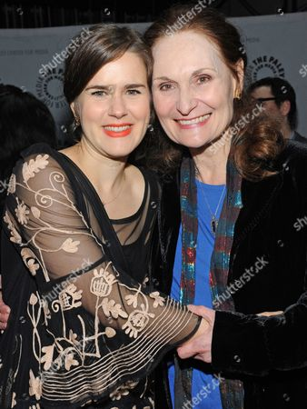 Photo of Zoe Jarman, left, and Beth Grant courtesy of Samsung Galaxy, taken during the Paley Center for Media's PaleyFest, honoring The Mindy Project at the Saban Theatre, in Los Angeles, California