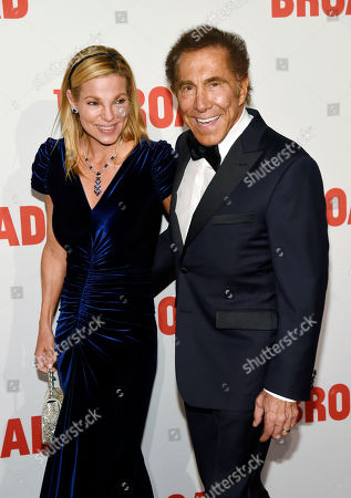 Steve Wynn, chairman and CEO of Wynn Resorts, arrives with his wife Andrea Hissom at The Broad museum's opening and inaugural dinner, in Los Angeles
