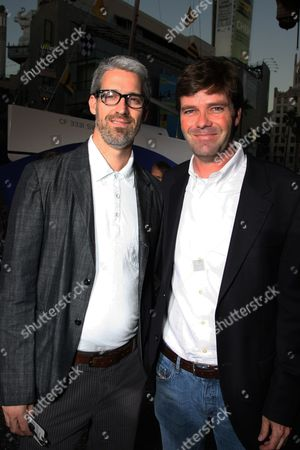 """OCTOBER 07: Director/Co-Writer Mark Monroe and Producer Morgan Sackett at The World Premiere of Walt Disney Pictures' """"Morning Light"""" on at the El Capitan Theatre in Hollywood, CA"""