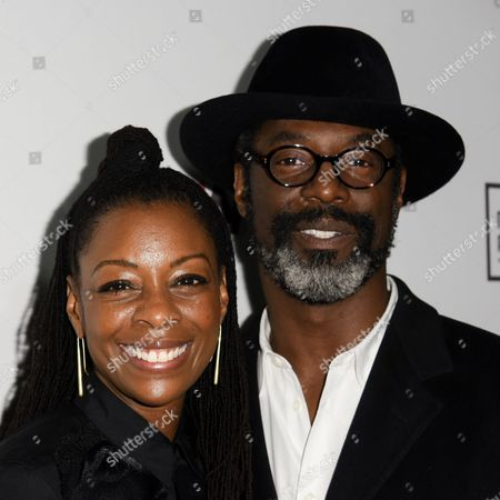 Isaiah Washington, right and wife Jenisa Garland arrive at The Wrap's 6th Annual Pre-Oscar Event held at the District Restaurant, in Los Angeles