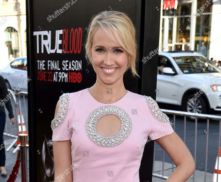 """Actress Anna Camp arrives at the Los Angeles premiere of the 7th and final season of """"True Blood"""" in Los Angeles. Camp, who also starred in the film The Help and the plays Equus and The Country Girl on Broadway, will lead the cast of Verite at the Claire Tow Theater starting Jan. 31. Moritz von Stuelpnagel will direct"""